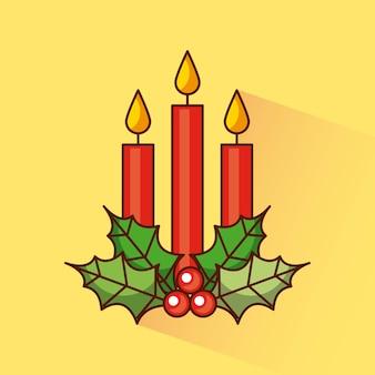 Weihnachtskerzendekoration-stechpalmenbeere traditionell