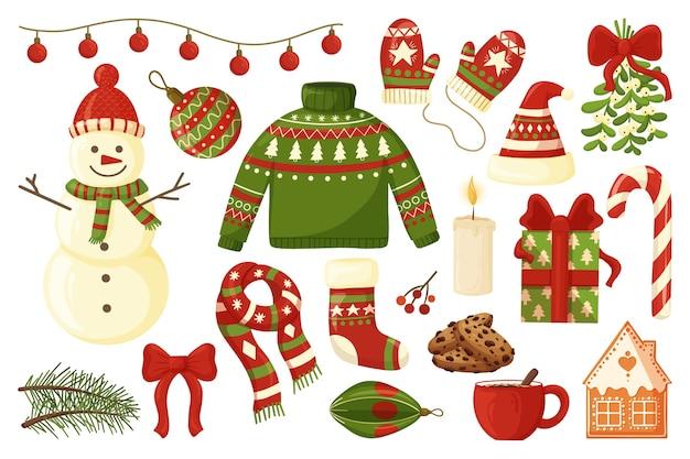 Weihnachtskollektion mit saisonalen elementen.