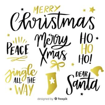 Weihnachtskollektion schriftzug label