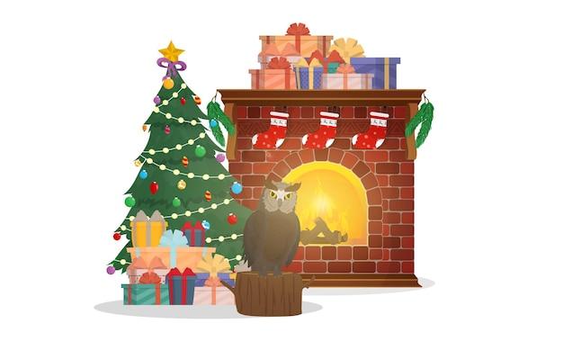 Weihnachtskomposition für die gestaltung von karten