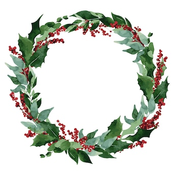 Weihnachtskomposition mit fichte