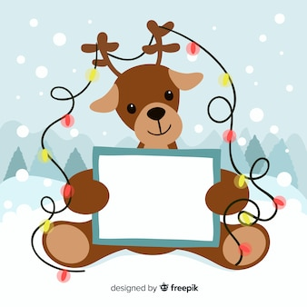 Weihnachtskomposition mit schönem stil