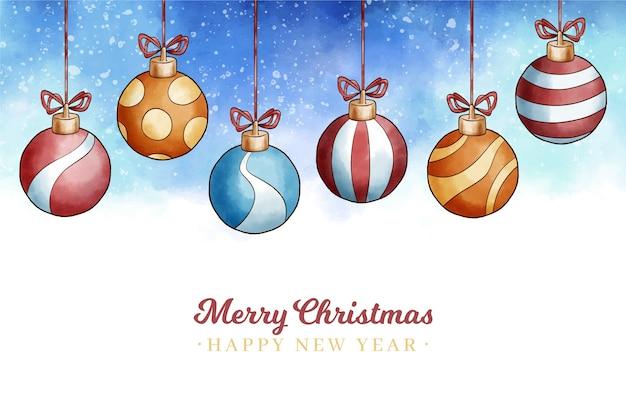 Weihnachtskonzept im aquarell