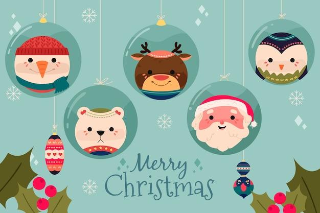Weihnachtskonzept im flachen design