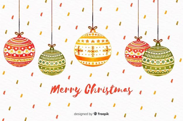 Weihnachtskonzept mit aquarellverzierungen