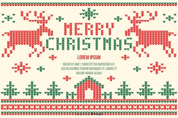 Weihnachtskonzept mit flachem designhintergrund