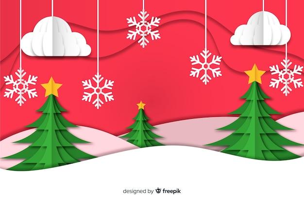 Weihnachtskonzept mit papierarthintergrund