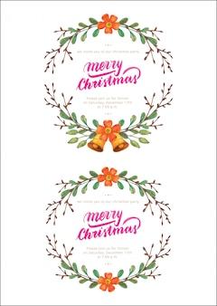 Weihnachtskränze aquarell set