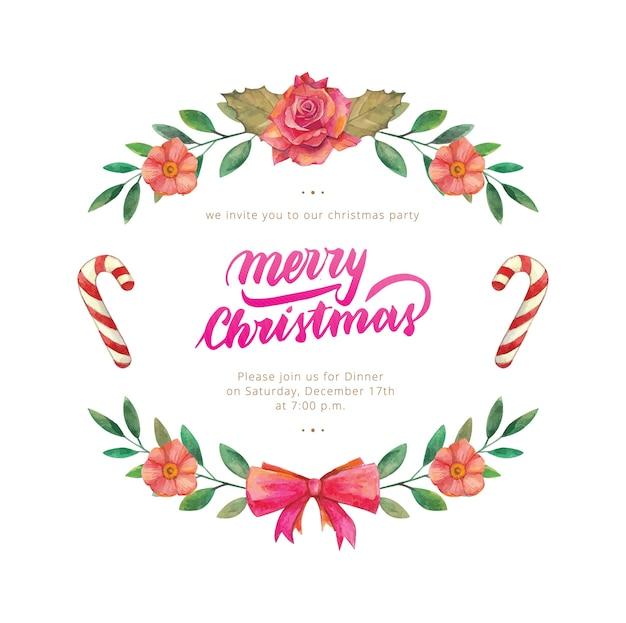 Weihnachtskränze aquarell
