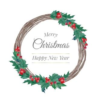 Weihnachtskranz aus aquarellholz