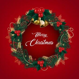 Weihnachtskranz aus tannenzweigen