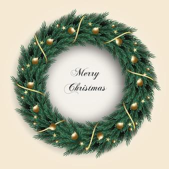 Weihnachtskranz dekoration grünes tannenblatt