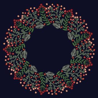 Weihnachtskranz-design-vektor.