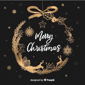 Weihnachtskranz Hintergrund