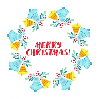 Weihnachtskranz isoliert auf weißem hintergrund