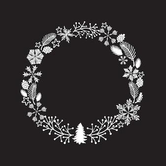 Weihnachtskranz. isoliert