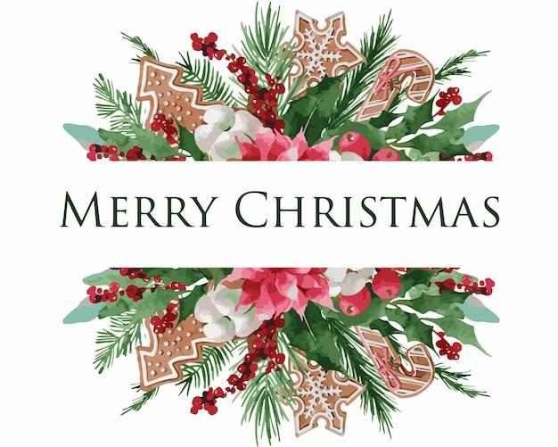 Weihnachtskranz mit fichte, kiefer