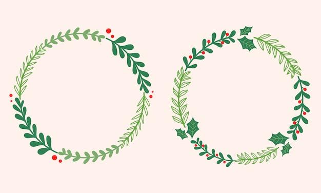 Weihnachtskranz mit kiefer