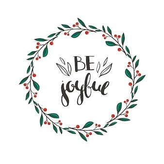 Weihnachtskranz mit roten beeren und grünen blättern vektor floral weihnachtskranz isoliert auf weiß