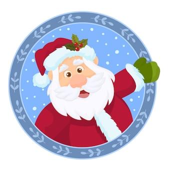 Weihnachtskranz mit santa