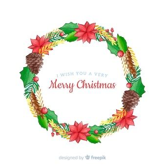 Weihnachtskranz mit tannenzapfen