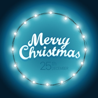 Weihnachtskranz-vektor-illustration. vorlage für die weihnachtsfeier