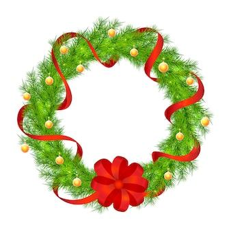 Weihnachtskranz vektor