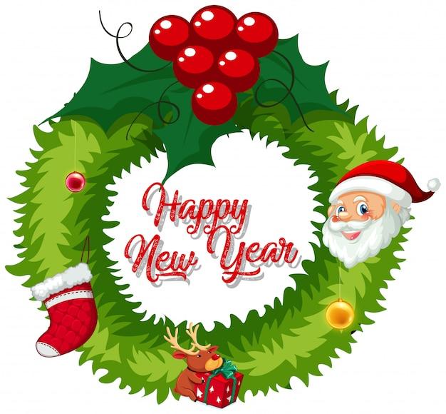 Weihnachtskranz zur dekoration