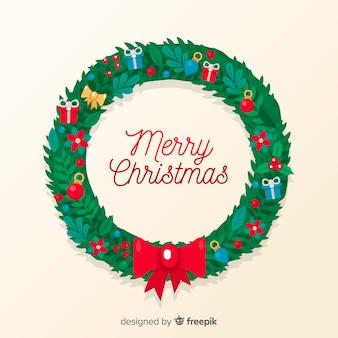 Weihnachtskranzhintergrund