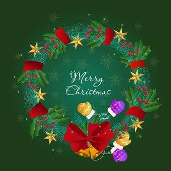 Weihnachtskranzkonzept