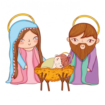 Weihnachtskrippe cartoon