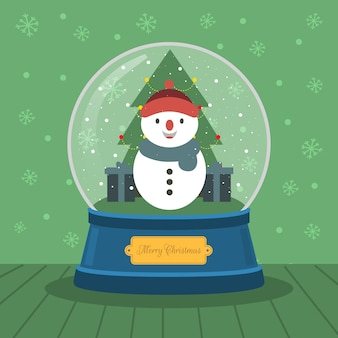 Weihnachtskristallkugel-schneemann
