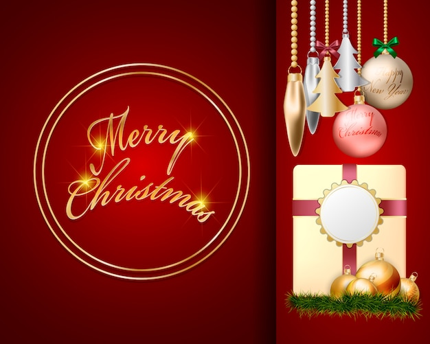 Weihnachtskugel-dekorationsdesign der draufsicht 3d