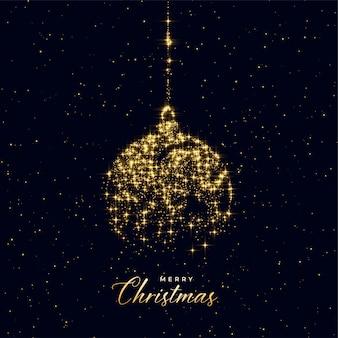 Weihnachtskugel gemacht mit goldenen scheinen