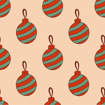 Weihnachtskugel ornament muster hintergrund weihnachtsdekoration vektor illustration