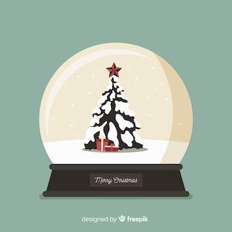 Weihnachtskugel schneeball
