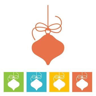 Weihnachtskugel. symbol für das neue jahr. vektor-illustration