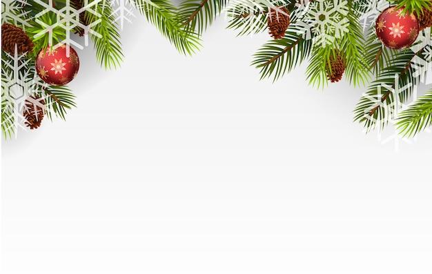Weihnachtskugel und weihnachtsbaum