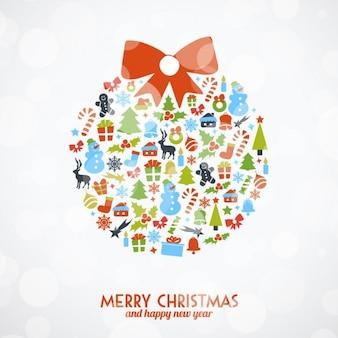 Weihnachtskugel von ornamenten