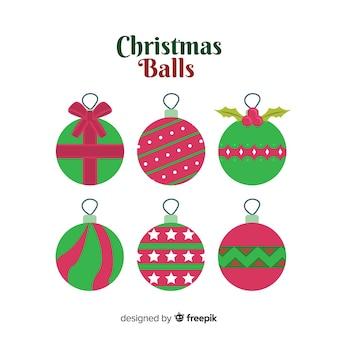Weihnachtskugeln festgelegt
