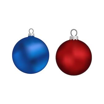 Weihnachtskugeln getrennt auf weiß. weihnachtsdekorationen.