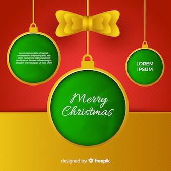 Weihnachtskugeln in papierform