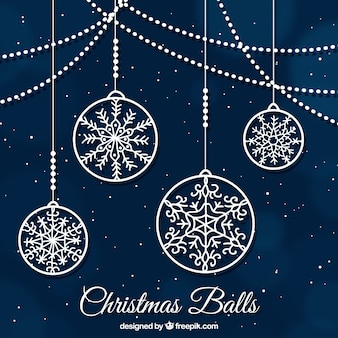 Weihnachtskugeln ornamentalen hintergrund