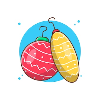 Weihnachtskugeln vektor clipart illustrationen.