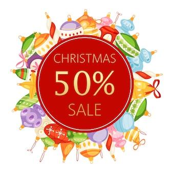 Weihnachtskugelverkauf 50 rabatt banner