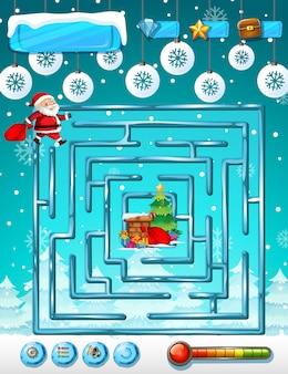 Weihnachtslabyrinth spielvorlage Premium Vektoren
