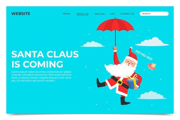 Weihnachtslandeseite im flachen design
