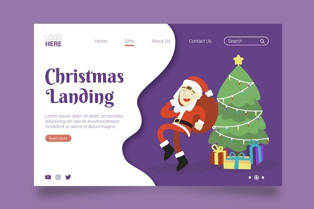 Weihnachtslandungsseite im flachen design