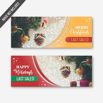 Weihnachtsletzte verkaufsfahnen