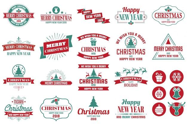 Weihnachtslogo für fahne